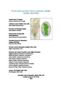 PLAN EDUCATIVO LOCAL RAFAEL URIBE URIBE: