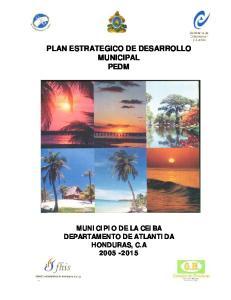 PLAN ESTRATEGICO DE DESARROLLO MUNICIPAL PEDM