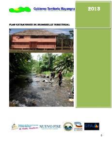 PLAN ESTRATEGICO de desarrollo territorial