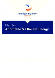 Plan for Affordable & Efficient Energy