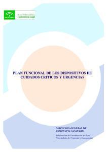 PLAN FUNCIONAL DE LOS DISPOSITIVOS DE CUIDADOS CRITICOS Y URGENCIAS