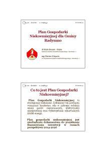 Plan Gospodarki Niskoemisyjnej dla Gminy Radymno