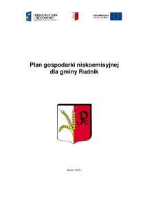 Plan gospodarki niskoemisyjnej dla gminy Rudnik