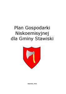 Plan Gospodarki Niskoemisyjnej dla Gminy Stawiski