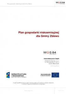 Plan gospodarki niskoemisyjnej dla Gminy Zblewo