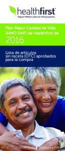 Plan Mejor Calidad de Vida (HMO SNP) de Healthfirst de