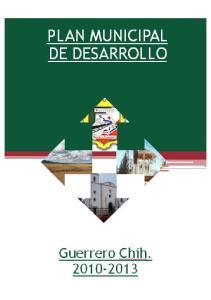 PLAN MUNICIPAL DE DESARROLLO DEL