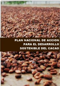 PLAN NACIONAL DE ACCION PARA EL DESARROLLO SOSTENIBLE DEL CACAO