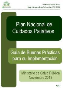 Plan Nacional de Cuidados Paliativos