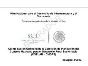 Plan Nacional para el Desarrollo de Infraestructura y el Transporte