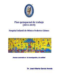 Plan quinquenal de trabajo ( )