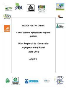 Plan Regional de Desarrollo Agropecuario y Rural