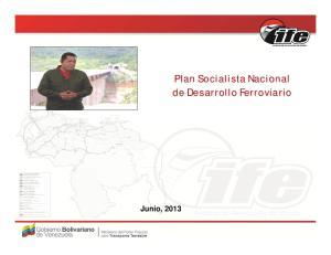 Plan Socialista Nacional de Desarrollo Ferroviario