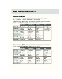 Plan Your Daily Schedule