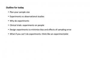 Plan your sample size