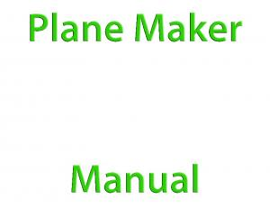 Plane Maker Manual. About This Manual. Using the Manual