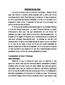 PLANEACION DE VIDA Y TRABAJO