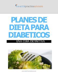 PLANES DE DIETA PARA DIABETICOS