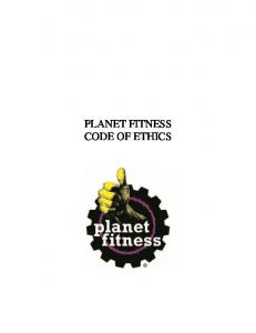 PLANET FITNESS CODE OF ETHICS
