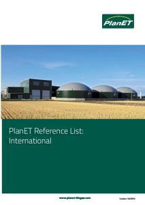 PlanET Reference List: International