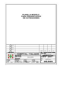 PLANILLA MODELO PARA PRESENTACION DE COTIZACIONES
