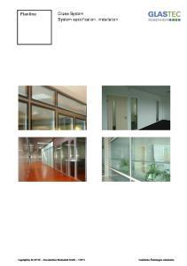 Planline. Glass-System System specification, installation