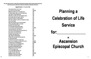 Planning a Celebration of Life Service for: