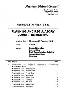 PLANNING AND REGULATORY COMMITTEE MEETING
