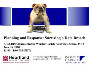 Planning and Response: Surviving a Data Breach