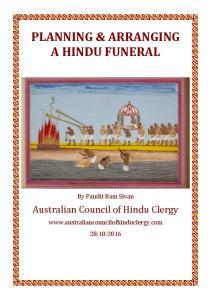 PLANNING & ARRANGING A HINDU FUNERAL