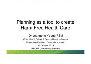 Planning as a tool to create Harm Free Health Care