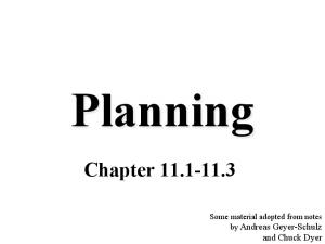 Planning Chapter