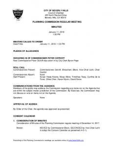 PLANNING COMMISSION REGULAR MEETING MINUTES
