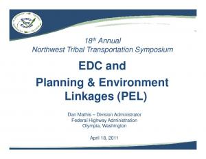 Planning & Environment Linkages (PEL)