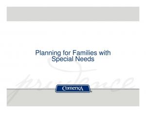 Planning for Families with Special Needs