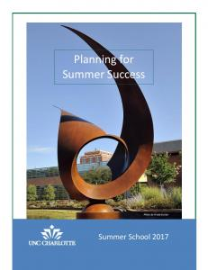 Planning for Summer Success