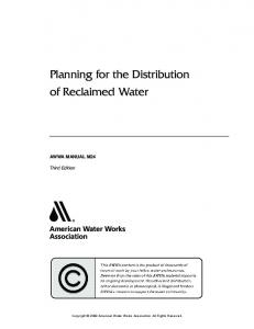 Planning for the Distribution of Reclaimed Water