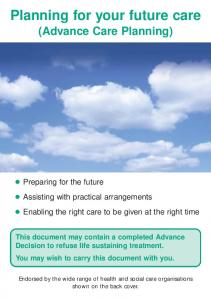 Planning for your future care (Advance Care Planning)
