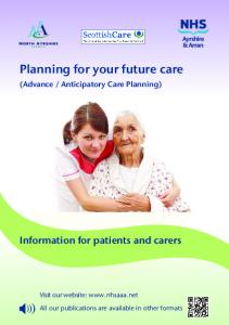 Planning for your future care