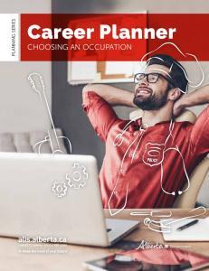 PLANNING SERIES. Career Planner CHOOSING AN OCCUPATION