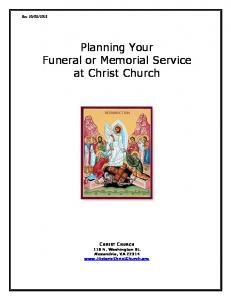 Planning Your Funeral or Memorial Service at Christ Church