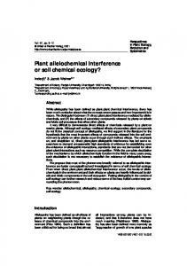 Plant allelochemical interference or soil chemical ecology?