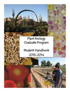 Plant Biology Graduate Program