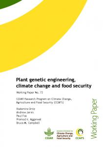Plant genetic engineering, climate change and food security