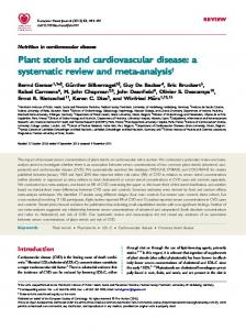 Plant sterols and cardiovascular disease: a systematic review and meta-analysis
