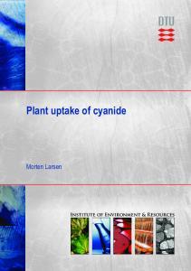Plant uptake of cyanide