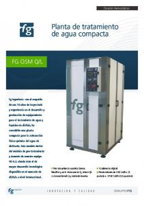 Planta de tratamiento de agua compacta