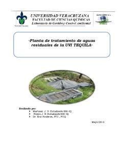 Planta de tratamiento de aguas residuales de la UVI TEQUILA