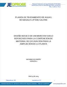 PLANTA DE TRATAMIENTO DE AGUAS RESIDUALES (PTAR) SALITRE