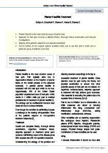 Plantar Fasciitis Treatment